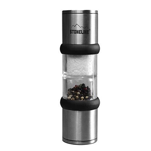 STONELINE  2in1 Design Salz- und Pfeffermühle, 2x 40 ml, Edelstahl