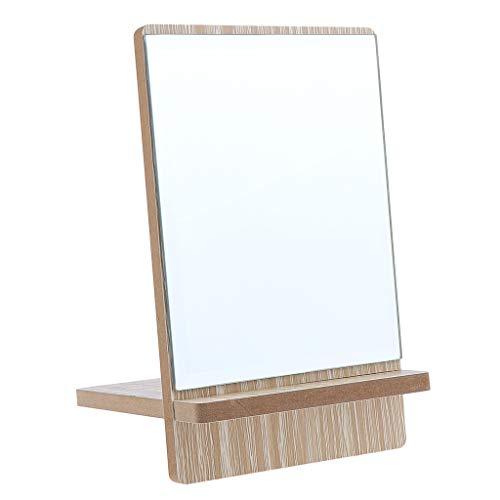 SDENSHI Espejo Compacto Desmontable Espejo De Maquillaje Y Afeitado De Pie Sin Manos - Medio, Individual