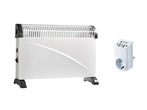 2000 W elektrische verwarming / 3 niveaus convector met thermostaat & timer, parel