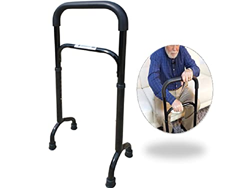 Rock Steady Cane- Stand Assist Adjustable Walking Cane Keeps You Independent - Walking, in Your Bathroom and Car. The Versatile Self Standing Cane Replaces Walkers, Crutches and Easy Up Aids