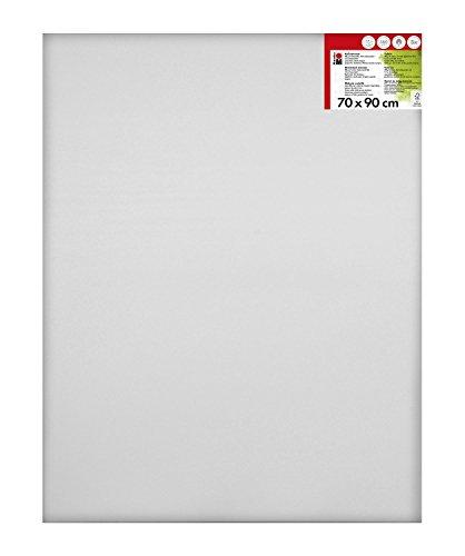 Marabu 1616000000700 - Keilrahmen, ca. 70 x 90 cm, Rahmentiefe ca. 1,8 cm, weiß, mit 380 g/qm Baumwolle bespannt, 3 fach grundiert, leicht saugend, für Acryl-, Öl-, Gouache- und Temperafarben