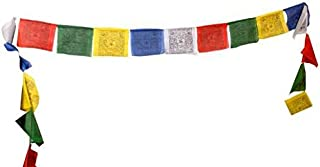 Tibetan Prayer Flag - Medium Traditional Design (6