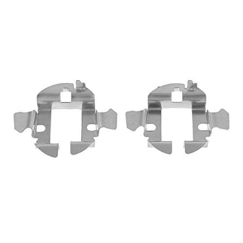 Gazechimp Paire Voiture HID Xénon H7 Lampe Adaptateur Porte-clips de Retenue Base en Métal Pour Audi Accs