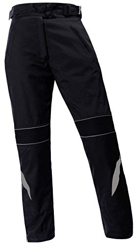 Ledershop-online Bangla Damen Motorradhose Motorrad Hose Biker Textilhose 600 Schwarz mit Grau XXL