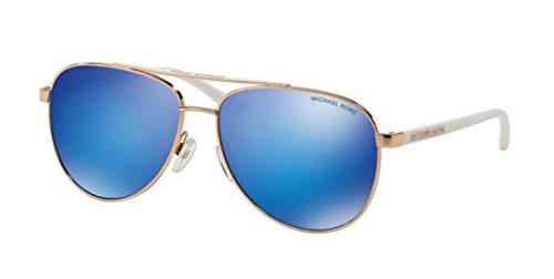 Michael Kors Hvar gafas de sol MK5007 de oro rosa/azul Espejo 1045-1025 59mm Blanco de oro rosa/azul Espejo