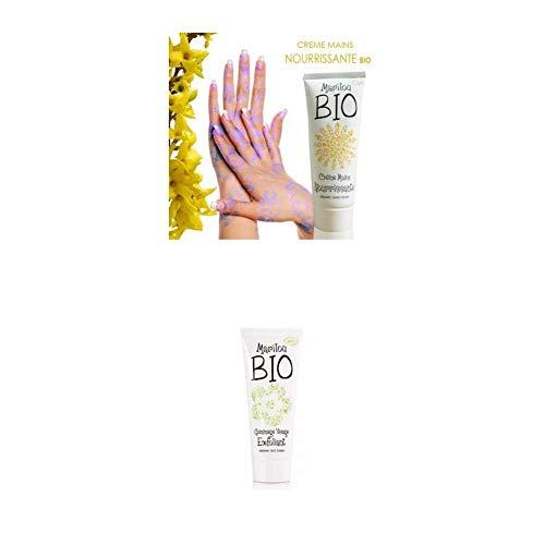 Duo de produit de beauté MARILOU BIO - Crème pour les mains nourrissante - Gommage visage