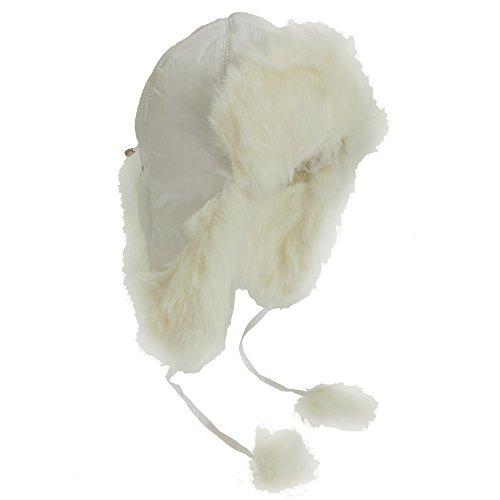 Textiles Universels Chapeau de Trappeur - Adulte Unisexe (Taille Unique) (Blanc)