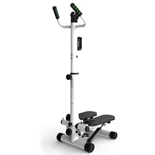 Stepper Fitness Up-Down Portátil con Pantalla LED Y Cuerdas De Resistencia Máquina De Escalada Deportiva Twister Stepper Swing Stepper (Color : White Adjustable A, Size : 120 * 34 * 32cm)