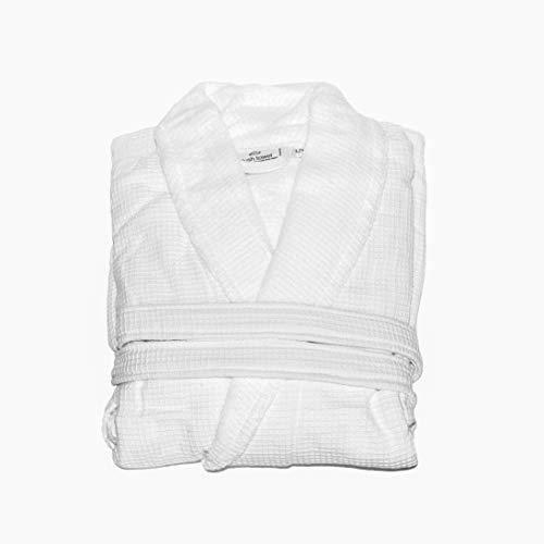 plush towel Turkish Cotton Bathrobes for Women & Men Luxury Waffle Weave Bath Robe for Women & Men, Soft & Absorbent