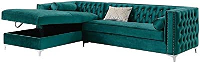 Amazon.com: Meridian Furniture 631Navy-Sectional Moda ...