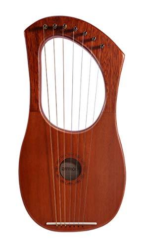 CQOQ Lyre Harp Harp Piano Piano Alambre Cadena Cadena Makogany Plywood Cuerpo...