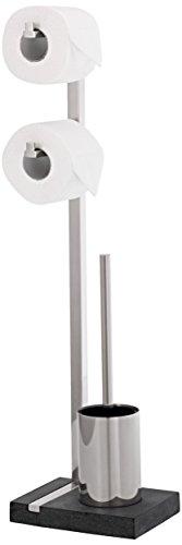 Blomus Menoto - WC Bürstenhalter Edelstahl für Toilettenbürste und WC Rollen
