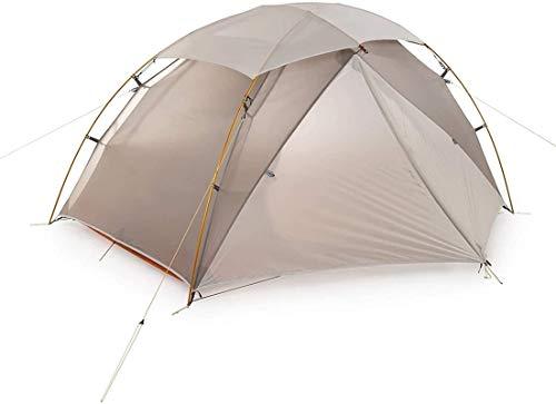 Tienda de campaña Ligera, Tienda de cúpula para Acampar 2 Hombre Camping Tienda Nylon Silicona al Aire Libre 2 Persona Campaña de campaña (Color: Gris, Tamaño: 105x210cm)