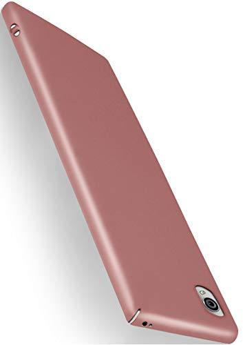 MoEx® Alpha Case kompatibel mit Sony Xperia Z5 Premium Hülle Dünn   Ultra-Slim Handyhülle - Metallic Schutzhülle Handy Cover, Matt Rosé-Gold