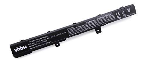 vhbw Batería Compatible con ASUS F451MA-VX106H, F451MA-VX308H, F451MA-VX708H, F551, F551C, F551CA-SX040H Notebook (2200mAh 14,4V Li-Ion Negro)