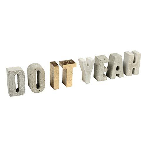 CREATE! by OBI DIY Betonbuchstaben & -zahlen | Dekorative Buchstaben & Zahlen aus Beton zum Selbergießen (HINWEIS: Farbe im Set nicht enthalten)