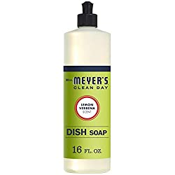 Mrs. Meyer's Clean Day Liquid Dish Soap, Lemon Verbena, 16 ounce bottle