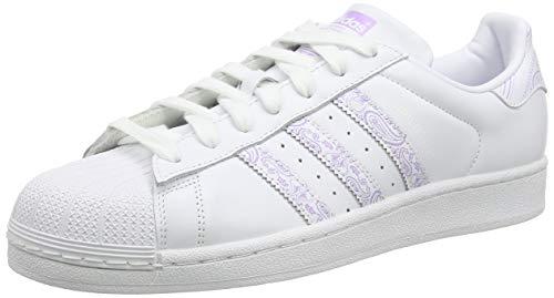 adidas Superstar, Scarpe da Ginnastica Uomo, Bianco (Ftwr White/Purple Glow/Ftwr White Ftwr White/Purple Glow/Ftwr White), 41 1/3 EU