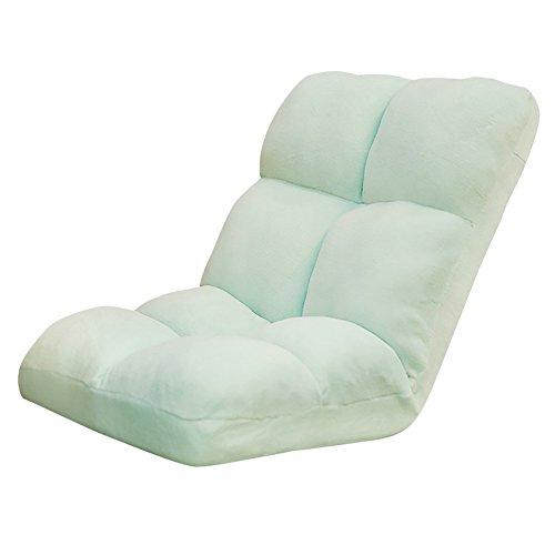 L-R-S-F Lazy Canapé Unique Pliable Chaise Lit Chaise Arrière Balcon Baie Vitrée Ordinateur Canapé Chaise (Couleur : Vert Clair)