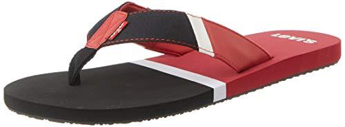 Levi's Mens 231757-841-89_39/40 flip-Flops, red, S