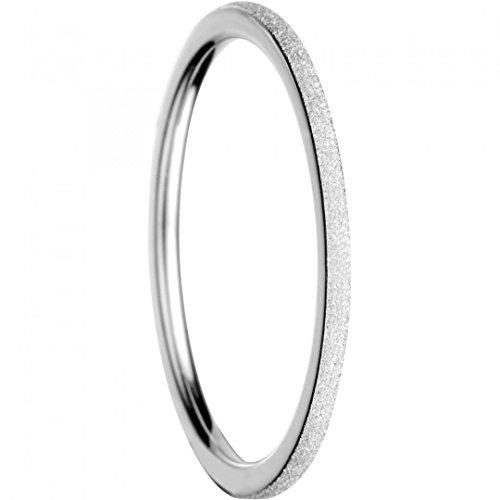BERING Stapelring Edelstahl Sparkling Effect Silber Ultra schmal Arctic Symphony Collection 561-19-X0, Ringgröße:57 (18.1 mm Ø)