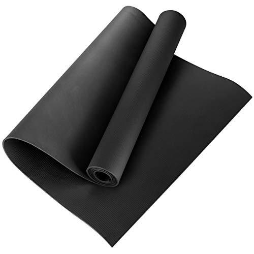 Borlai - Tappetino da Yoga Riutilizzabile, in Eva Antiscivolo, per Fitness, Tappetino Antiscivolo, 1164057/120865AM08UK8, Nero, 173x60x0.4cm