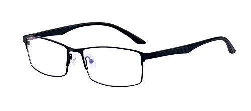 ALWAYSUV Black TR90 Full Frame Distance Glasses for Men Retro Nearsighted Myopia Shortsighted Glasses -1.0