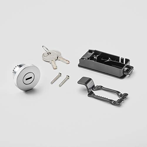 Swissmobilia Komplettset Schlossgriff mit 2 Schlüsseln für USM Haller, Chrom, Schlüsselnummer:105
