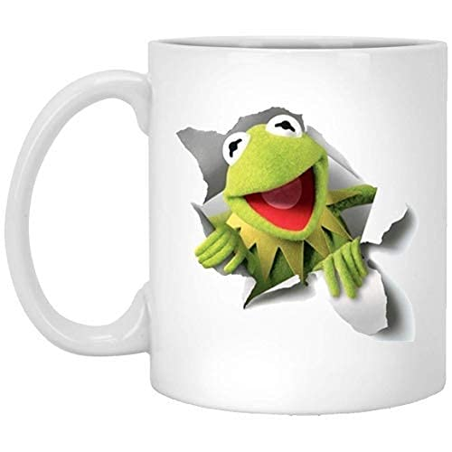 N\A O-Love Custom Kermit Der Frosch Neuheit Kaffee/Weiß/Tee Keramikbecher 11 OZ (Zwei Seiten)