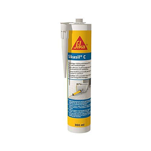 Sikasil C, Neutralvernetzender Silicondichtstoff für Sanitär- und Baufugen, 300ml, transparent