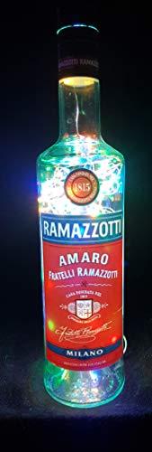 Ramazotti - Flaschenlampe Lampe mit 80 LEDs Bunt Upcycling Geschenk Idee