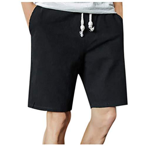 UINGKID Männer Kurze Hose Freizeithosen Gerade Strandshorts Höschen Kordelzug Einfarbig Sommer- Bewegung Schnelltrocknend Kurze Hose
