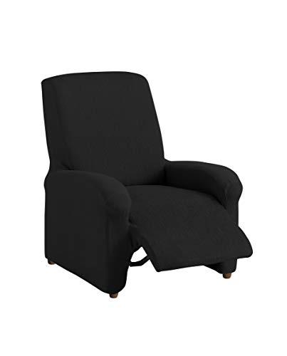 Textil-home Stretchhusse für Relaxsessel Komplett TEIDE, 1 Sitzer - 70 a 100Cm. Farbe Schwarz