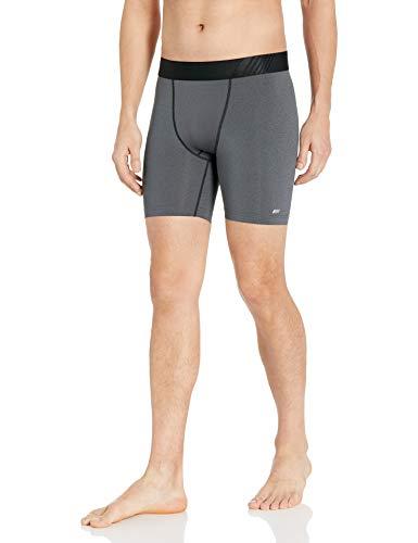 "Amazon Essentials Men's Base Layer Control Tech 6"" Short, Charcoal Grey Heather, Large"