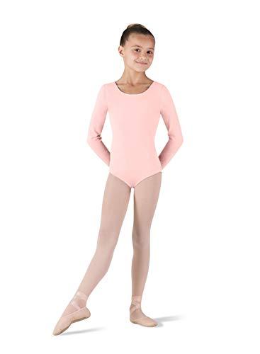Bloch Dance Girls Petit Klassischer Langarm-Trikot, Hellrosa, Größe 37-39