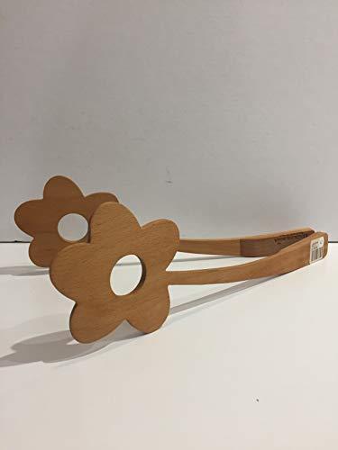 Salatzange aus Holz Modell Blume