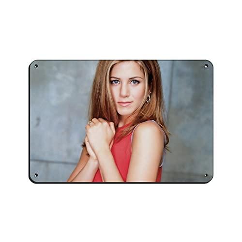 Filmskådespelare, regissör, filantropist Jennifer Aniston global sexig kvinna brev 10 canvas affisch väggkonst dekor tryck bildmålningar för vardagsrum sovrum dekoration vit stil 18 × 12 tum (20 × 30 cm)