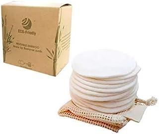 MINIMALAU Reusable Makeup Remover Pads 12PK - 100% Organic Cotton Rounds - Hypoallergenic -Eco Friendly - Washable - Zero ...