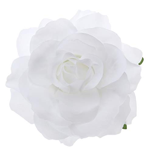 Beaupretty 2 en 1 Pin de Pelo Rosa Ramillete Flor Pinza de Pelo Broche de Flor Pin Accesorios para El Cabello para Boda de Fiesta (Blanco)
