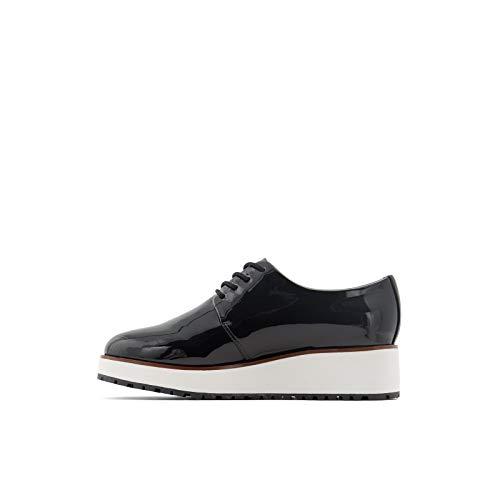 ALDO Women's Lovirede Oxford Wedge Shoes Flat, Black/White, 5