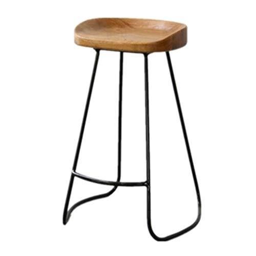 Taburetes de Bar Taburete Alto Giratorio Sillas Ba Nordic Fashion taburete redondo de hierro sólido de madera maciza restaurante occidental leche Tea Cafe Dining Chair retro sillón al aire libre Tabur