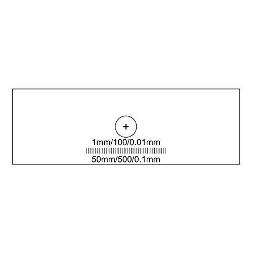 BoliOptics Microscope Stage Calibration Slide, Dual Axis Cross Line Target 1mm/100/0.01mm, Linear Scale Micrometer Ruler 50mm/500/0.1mm RT20221101