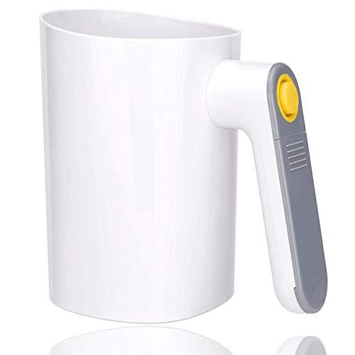 Tamiz de harina portátil eléctrico Tamiz de Mano Operador a batería Colador de plástico Forma de Vaso Polvo Coctelera Cocina Hornear PasteleríaTamices para repostería
