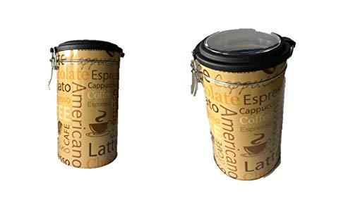 Rund Kaffee Dose/Tee Caddy/Küche Blechdose/Vorratsdose Kanister AM – Clip Deckel LA4