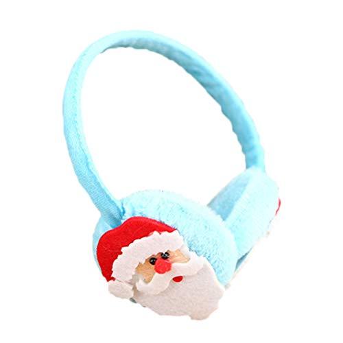 HEALIFTY Ohrwärmer Stirnband Ohrenschützer Weihnachtsmann Ohrenschützer Fell Ohrwärmer Winter Ohrenschützer Weihnachten Kostüm Zubehör Kopfbedeckung für Kinder (blau)