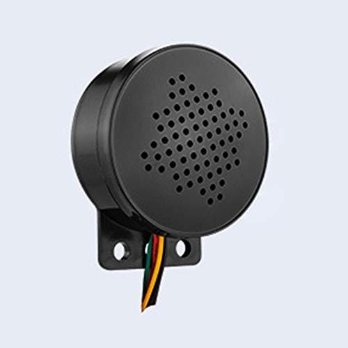 Welltobuy 12-24V Auto Start-Stimme Individuellen 4-Kanal-Trigger-Voice-Lautsprecher Prompter Ton Alarm Reverse-Sirene Alarmton Horn Beep LKW Caravan 110dB