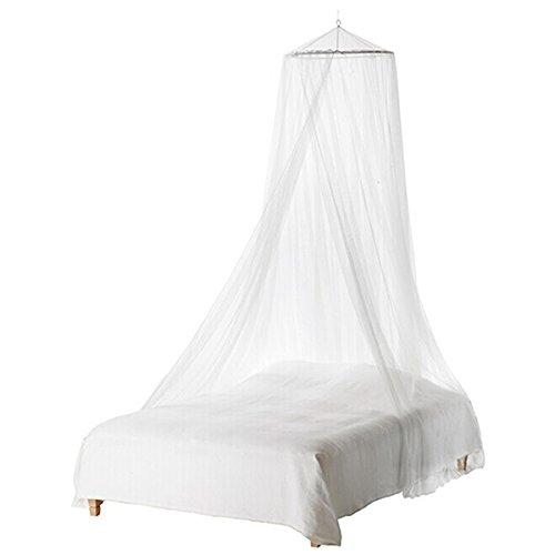 UEETEK Langlebige Rund Moskitonetz Fliegennetz Mückennetz Baby Kleinkind Bett Baldachin (weiß)