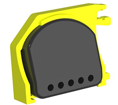 FibaroBox1 voor de opname van 1 stuks Fibaro-relais. Verticale montage op de DIN-rail. Bespaart waardevolle ruimte in de verdeler. (oranje) (oranje) 6,0x4,3x1,3 geel