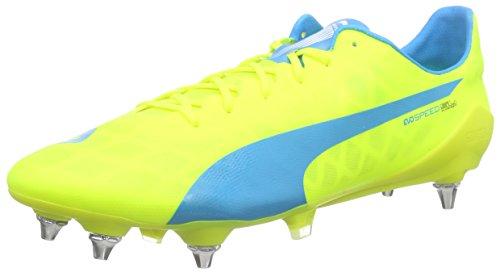 PUMA Evospeed SL Mixed SG, Scarpe da Calcio Uomo, Giallo (Gelb (Safety Yellow-Atomic Blue-White 01), 44