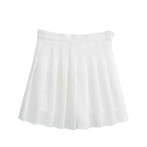 Inlefen Schnelltrocknender Plissierter Slim Fit Rock für Damen mit Hoher Taille Sport Workout und Fitness Tennis Mini Shorts Skorts mit Seitlichem Reißverschluss